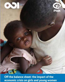 Portada del informe Impacto de la crisis económica en mujeres y niñas de Plan International