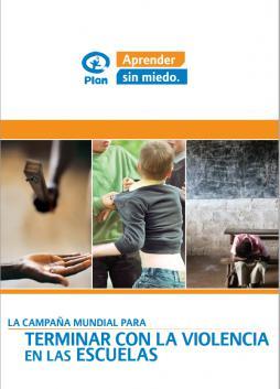 Portada del informe Aprender sin miedo de Plan International
