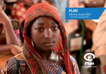 Portada de la memoria anual de Plan International España 2012