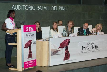 Evento del día Internacional de la niña de la campaña Por Ser Niña de Plan International